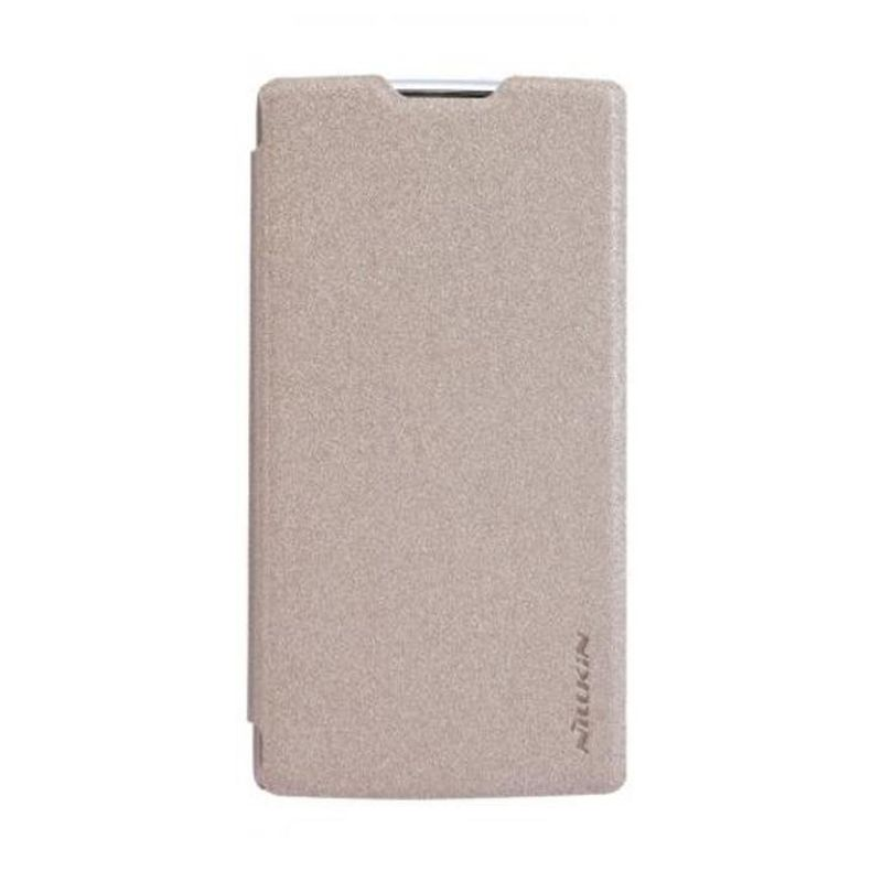 Nillkin Sparkle Leather Gold Casing for Oppo R831T Neo