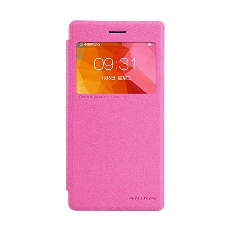 Nillkin Sparkle Leather Pink Casing for Oppo R5