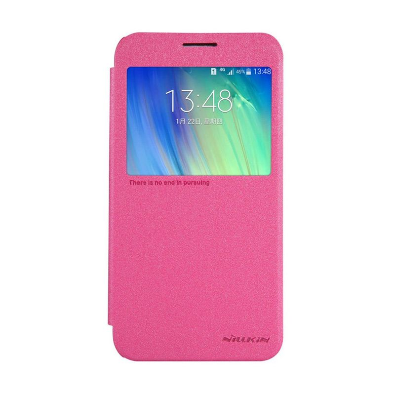 NILLKIN Sparkle Leather Pink Casing for Samsung Galaxy A7