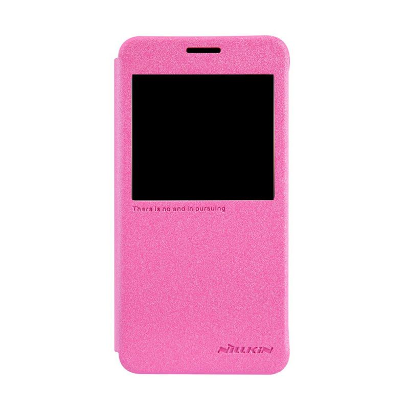NILLKIN Sparkle Leather Pink Casing for Samsung Galaxy Alpha