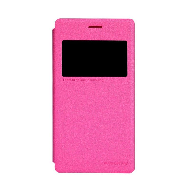 Nillkin Sparkle Leather Pink Casing for Sony Xperia M2 S50h