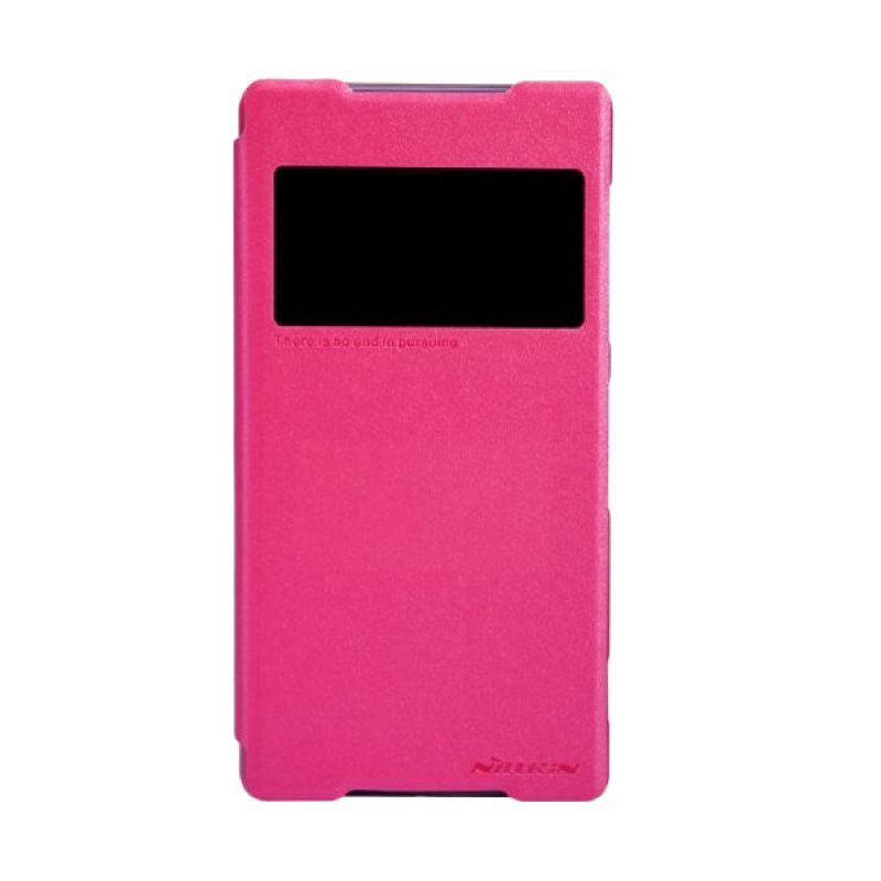 Nillkin Sparkle Leather Pink Casing for Sony Xperia Z2