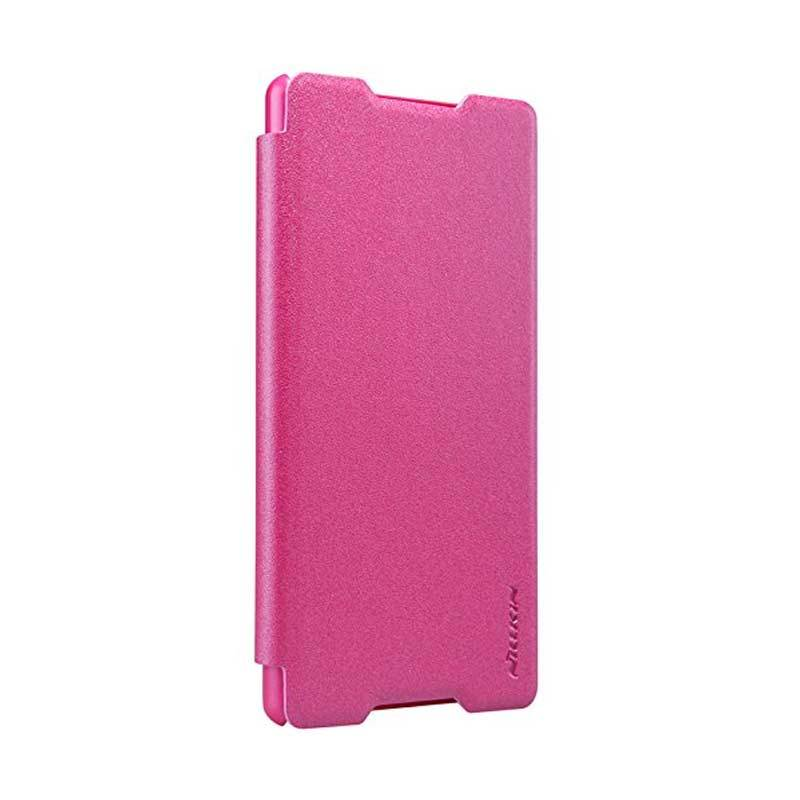 Nillkin Sparkle Leather Pink Casing for Sony Xperia Z4 or Xperia Z3