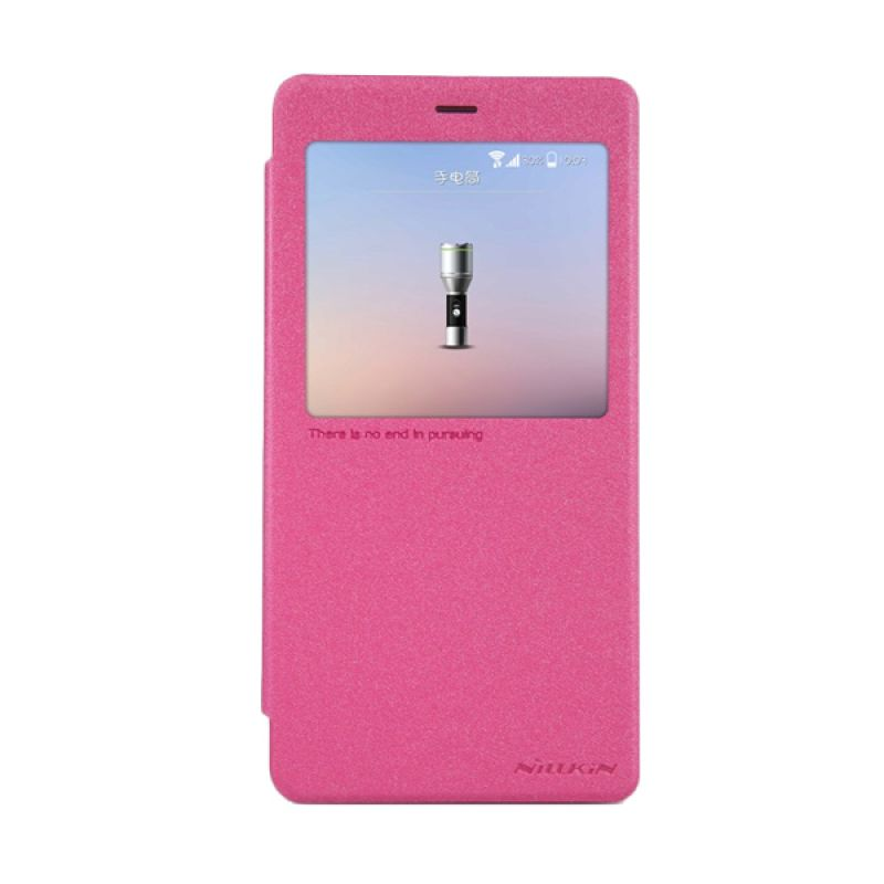 Nillkin Sparkle Leather Pink Casing for Xiaomi Note or MiNote Pro
