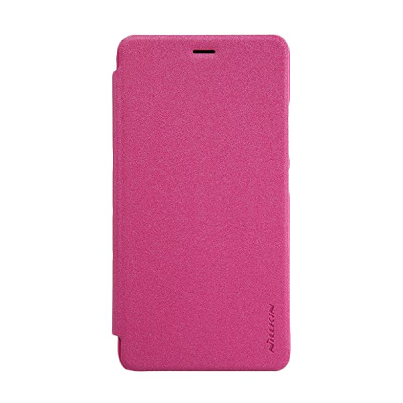 Nillkin Sparkle Leather Pink Casing for Xiaomi Redmi Note 2