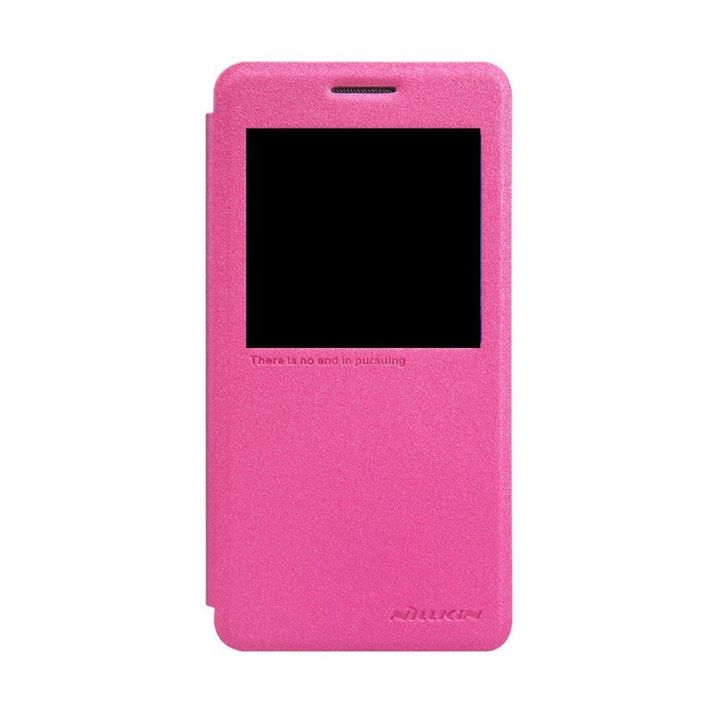 Nillkin Sparkle Leather Pink Casing Samsung Galaxy A5 A5000