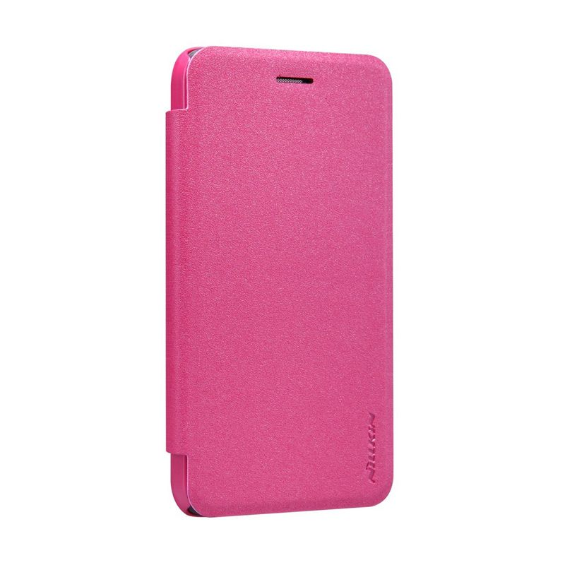 NILLKIN Sparkle Leather Pink Flip Cover Casing for Asus Padfone S PF500KL