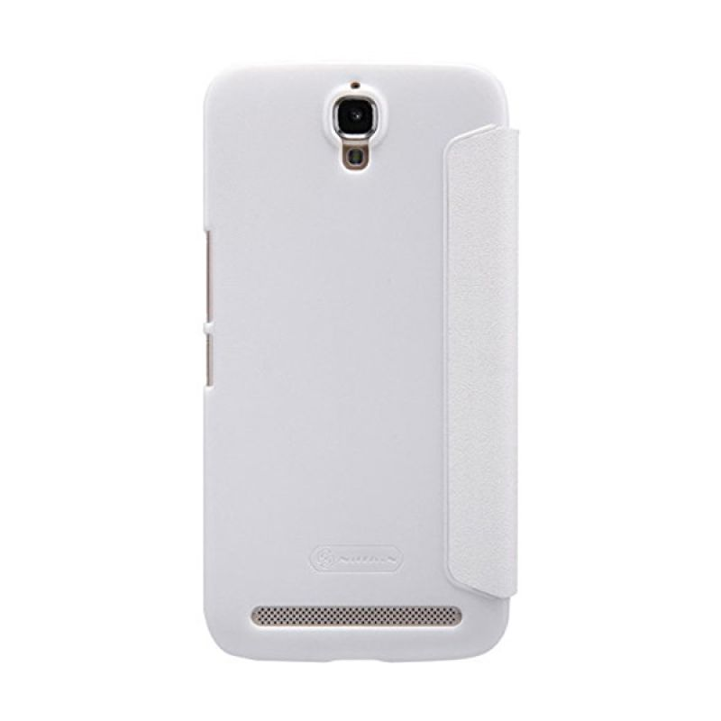 harga Nillkin Sparkle Leather White Casing for Alcatel OneTouch Flash Plus TCL 3N or M2M Blibli.com