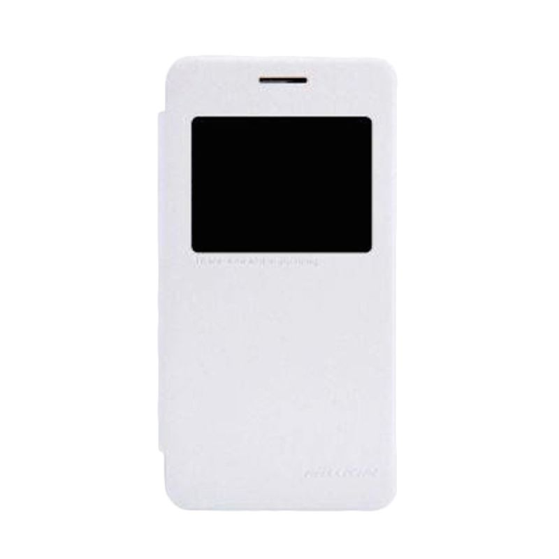 Nillkin Sparkle Leather Case White Casing for Asus Zenfone 4S A450CG