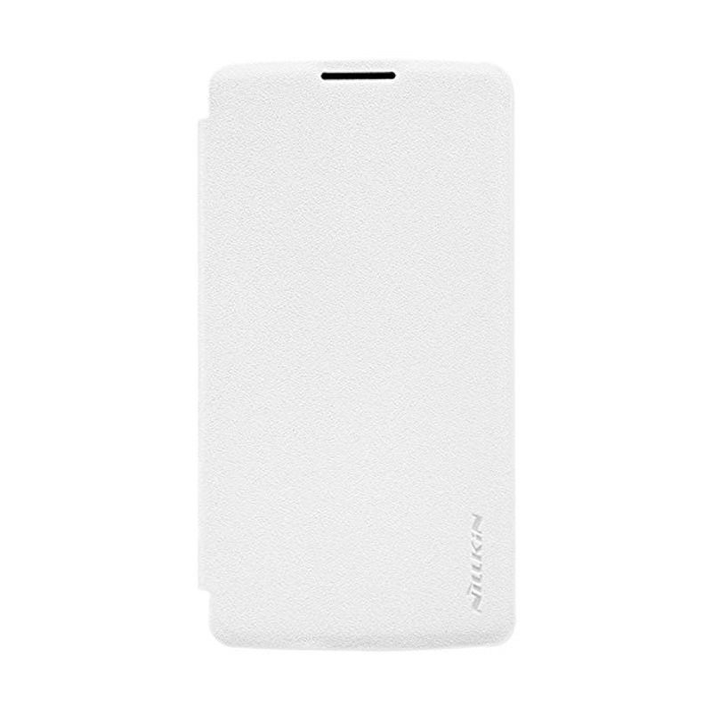 Nillkin Sparkle Leather White Casing for LG Leon H324