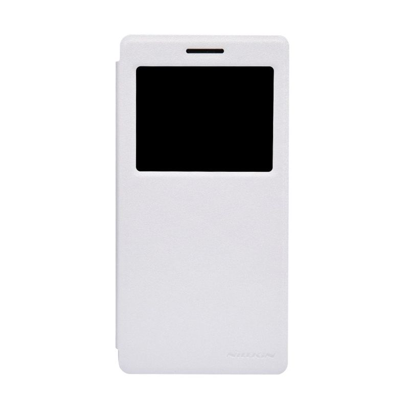 Nillkin Sparkle Leather White Casing for Oppo Find 7 X9007