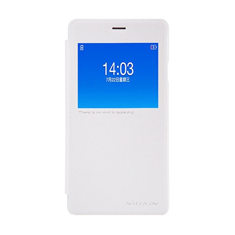 Nillkin Sparkle Leather White Casing for Oppo Joy 3 A11