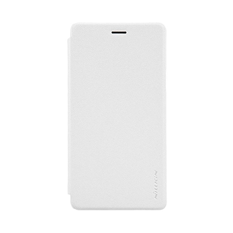 Nillkin Sparkle Leather White Casing for Oppo Mirror 5 A51
