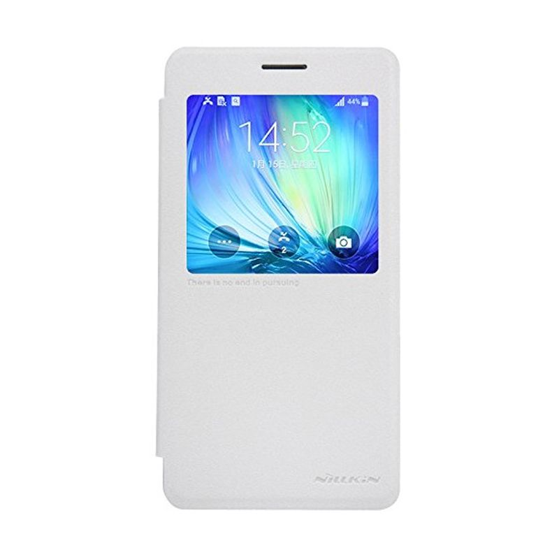 NILLKIN Sparkle Leather White Casing for Samsung Galaxy A7