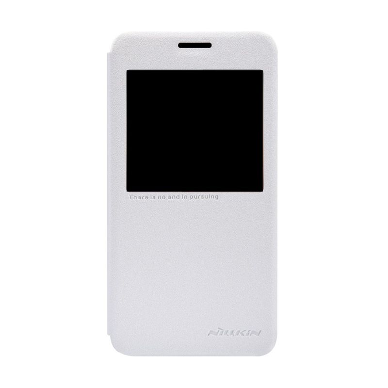 NILLKIN Sparkle Leather White Casing for Samsung Galaxy Alpha