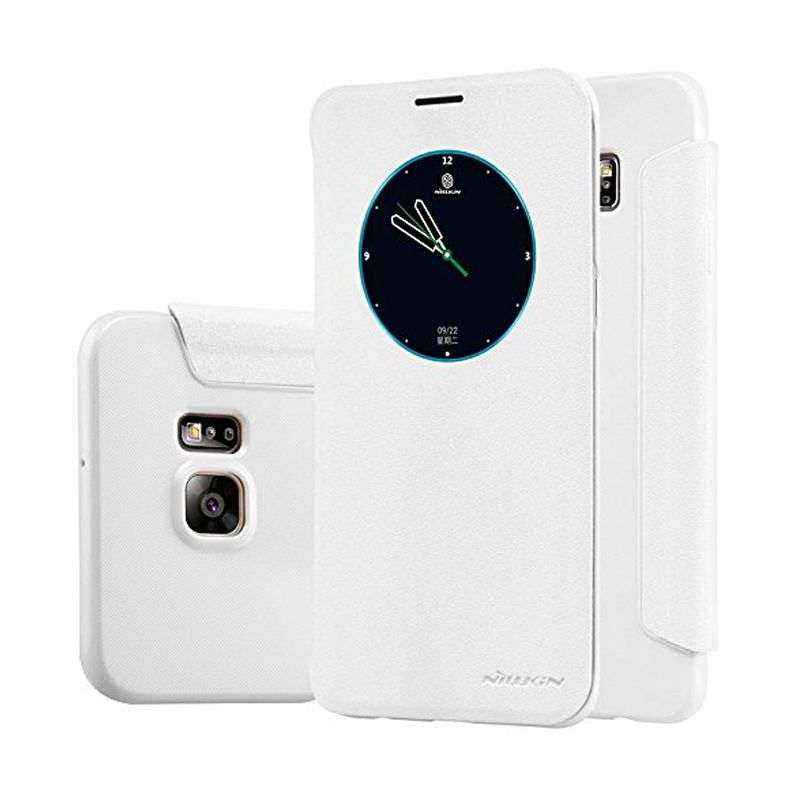 Nillkin Sparkle Leather White Casing for Samsung Galaxy S6 Edge Plus