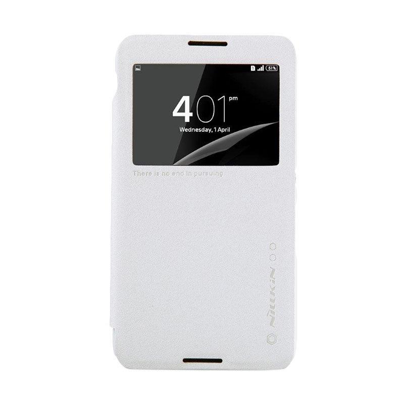 Nillkin Sparkle Leather White Casing for Sony Xperia E4