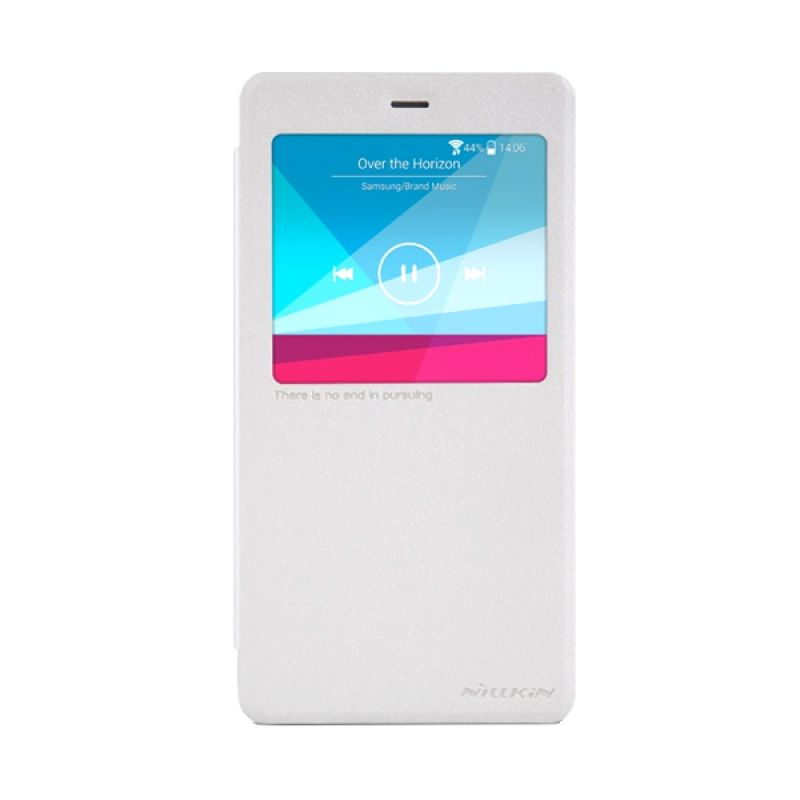 Nillkin Sparkle Leather White Casing for Xiaomi Note or MiNote Pro