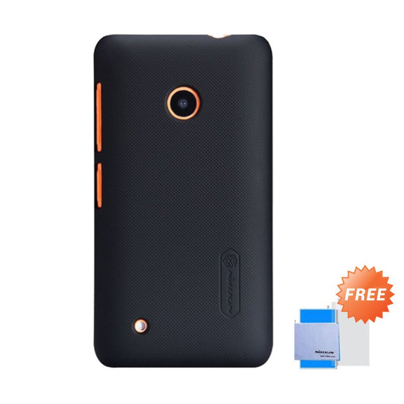 Nillkin Super Frosted Shield Black Casing for Nokia Lumia 530 + Screen Protector