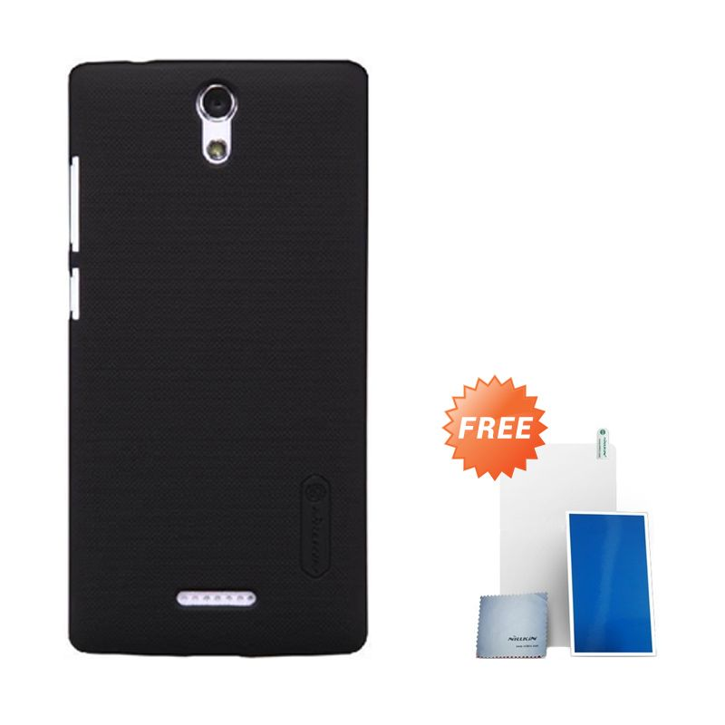Nillkin Super Frosted Shield Black Casing for Oppo Mirror 3 + Screen Protector
