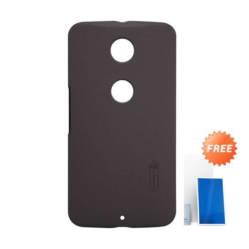 Nillkin Super Frosted Shield Brown Casing for Motorola Moto Nexus 6 + Screen Protector