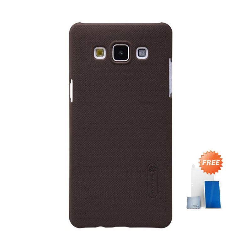 Nillkin Super Frosted Shield Brown Casing for Samsung Galaxy A5 + Screen Protector