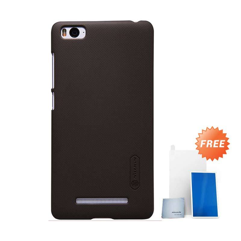 Nillkin Super Frosted Shield Brown Casing for Xiaomi Mi4i + Screen Protector