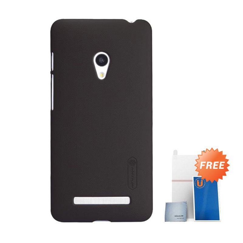 Nillkin Super Frosted Shield Coklat Casing for Asus Zenfone 5 + Screen Protector