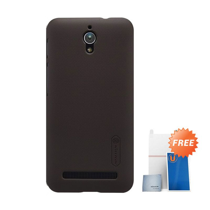 Nillkin Super Frosted Shield Coklat Casing for Asus Zenfone C ZC451CG + Screen Protector