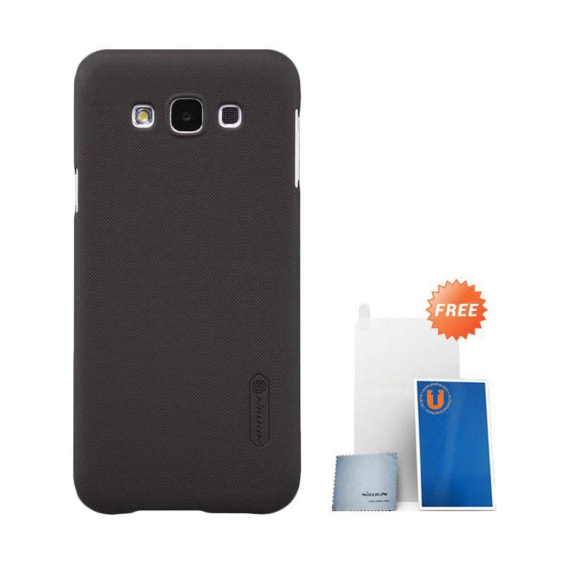 Nillkin Super Frosted Shield Cokelat Casing for Samsung Galaxy E7 E700 + Screen Protector