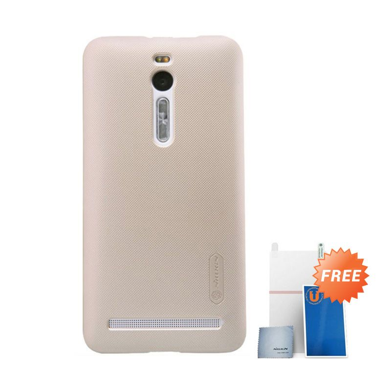 Nillkin Super Frosted Shield Emas Casing for Asus Zenfone 2 ZE500CL + Screen Protector