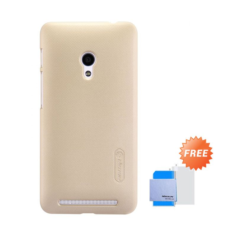 Nillkin Super Frosted Shield Gold Casing for Asus Zenfone 4S A450CG + Screen Protector