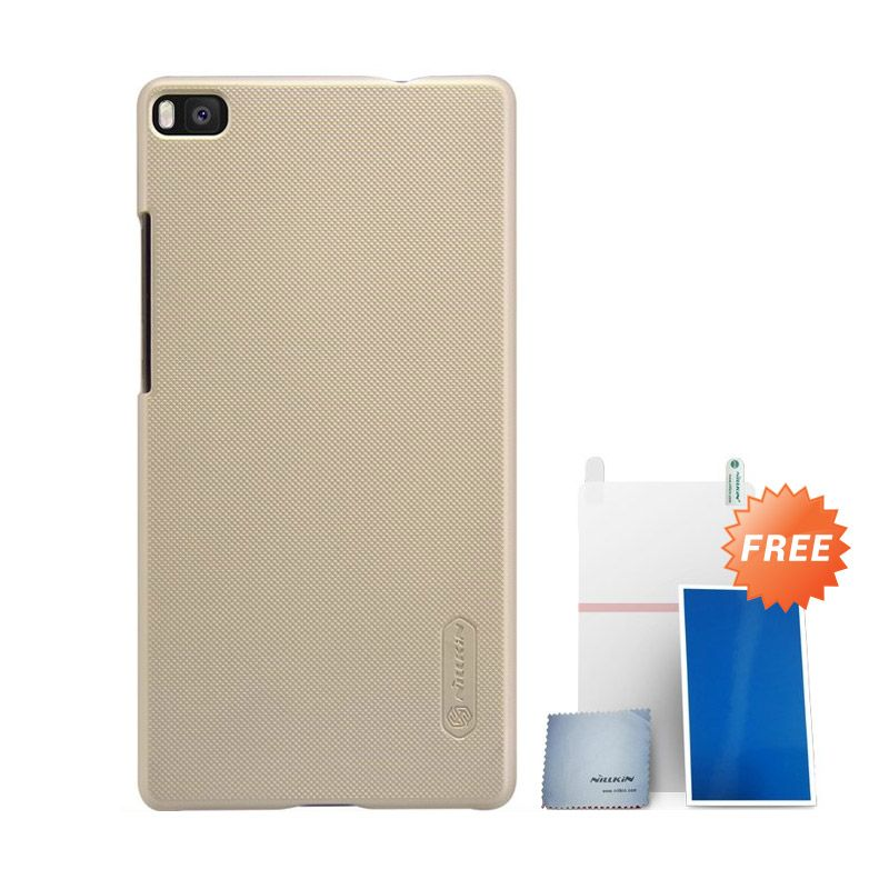 Nillkin Super Frosted Shield Gold Casing for Huawei Ascend P8 + Screen Protector