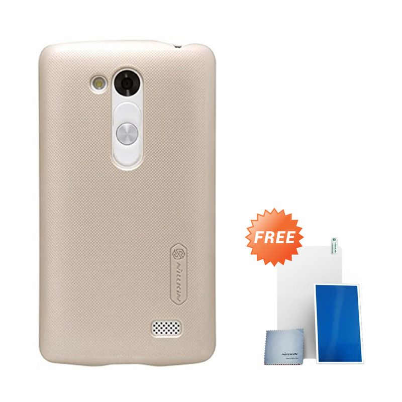 Nillkin Super Frosted Shield Gold Casing for LG L Fino D295 + Screen Protector