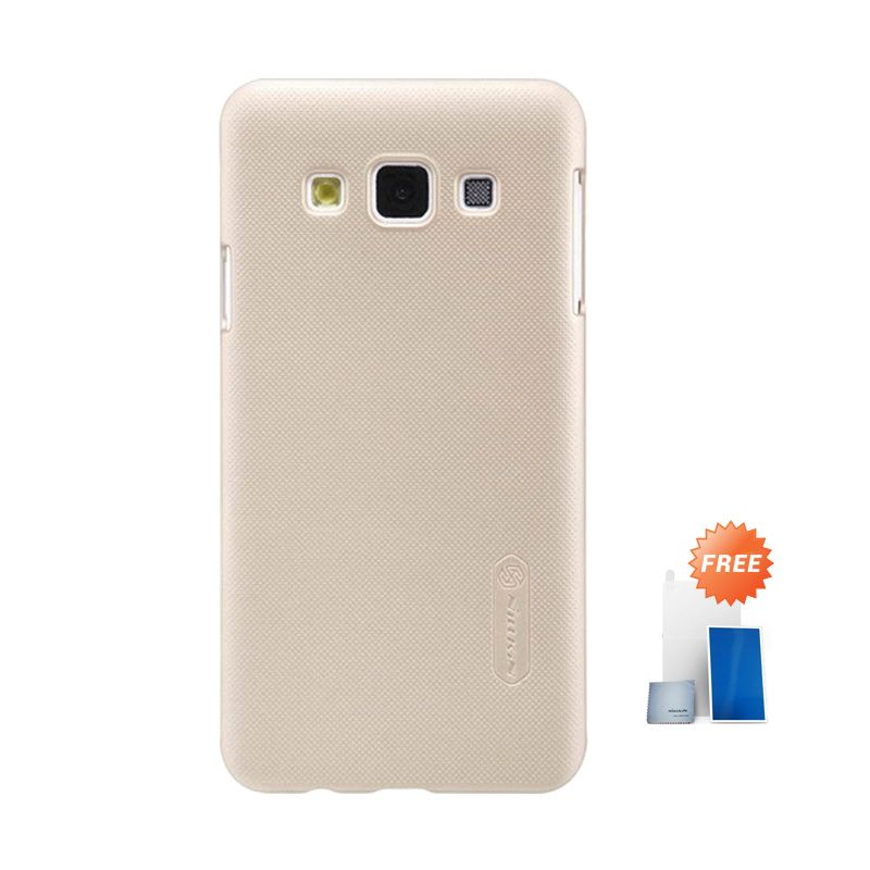 Nillkin Super Frosted Shield Gold Casing for Samsung Galaxy A3 + Screen Protector