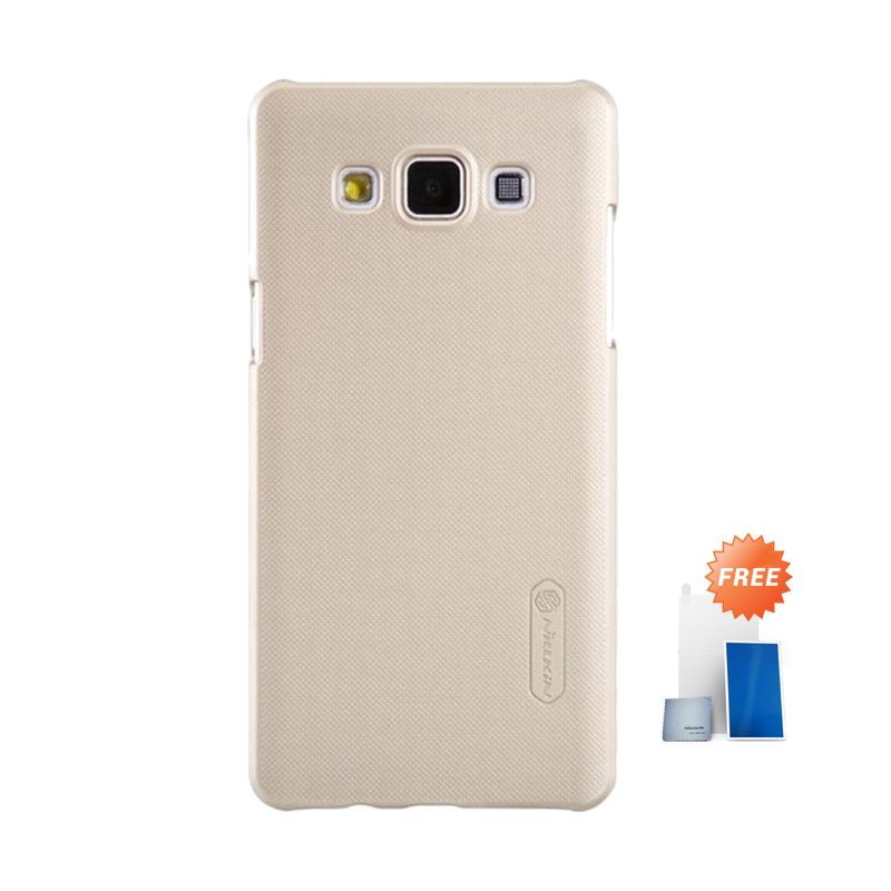 Nillkin Super Frosted Shield Gold Casing for Samsung Galaxy A5 + Screen Protector