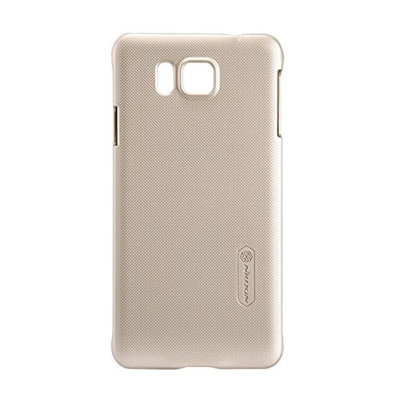 Nillkin Super Frosted Shield Gold Casing for Samsung Galaxy Alpha