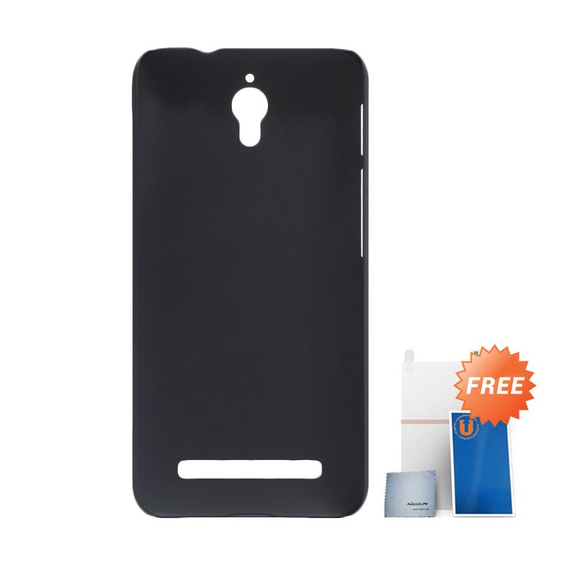 Nillkin Super Frosted Shield Hitam Casing for Asus Zenfone C ZC451CG + Screen Protector