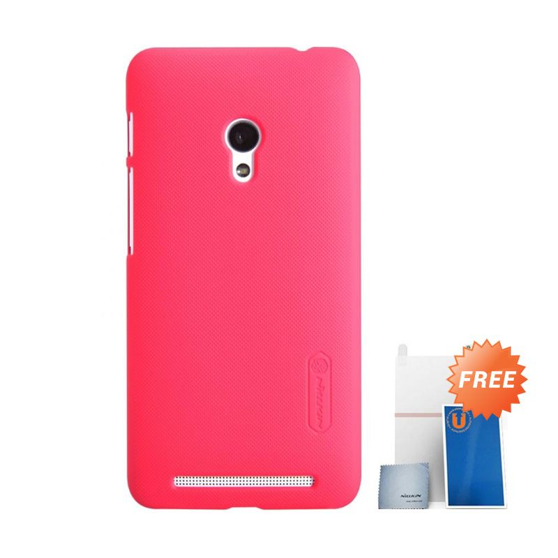 Nillkin Super Frosted Shield Merah Casing for Asus Zenfone 4S A450CG + Screen Protector