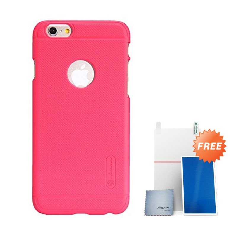Nillkin Super Frosted Shield Red Casing for iPhone 6 + Screen Protector