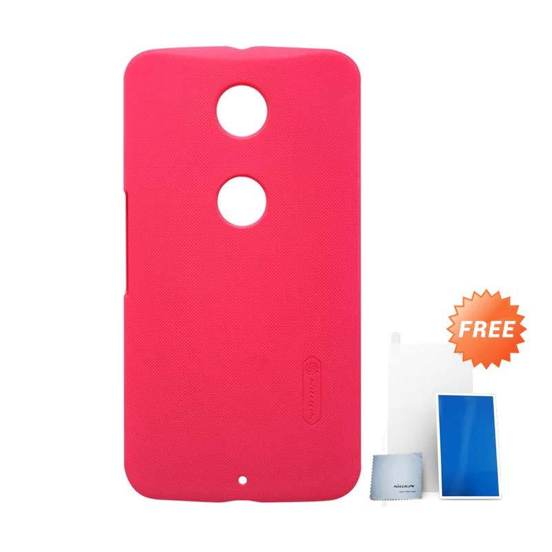 Nillkin Super Frosted Shield Red Casing for Motorola Moto Nexus 6 + Screen Protector