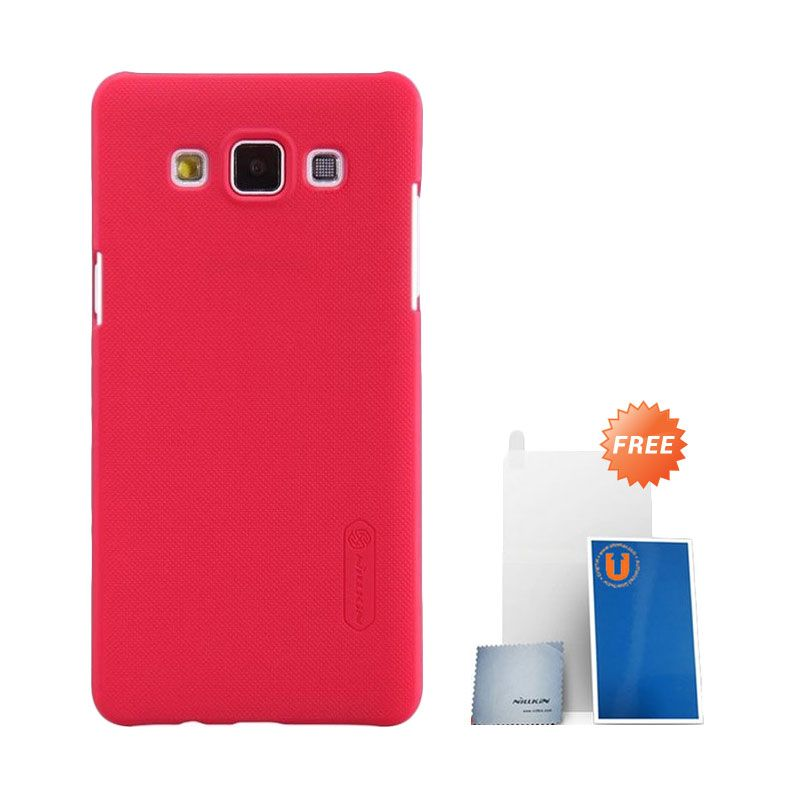 Nillkin Super Frosted Shield Red Casing for Samsung Galaxy A5 + Screen Protector
