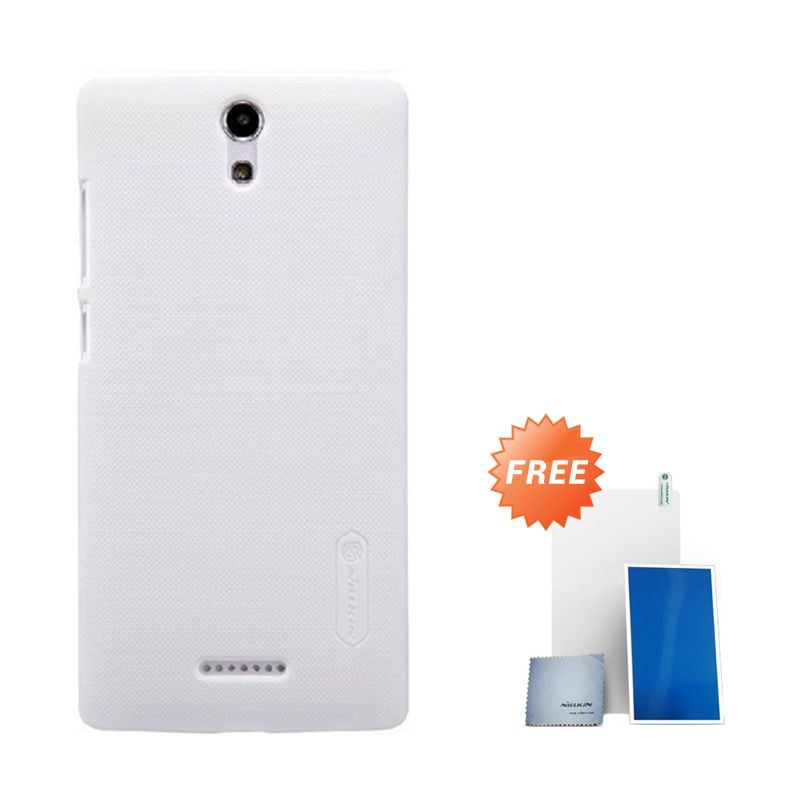 Nillkin Super Frosted Shield White Casing for Oppo Mirror 3 + Screen Protector
