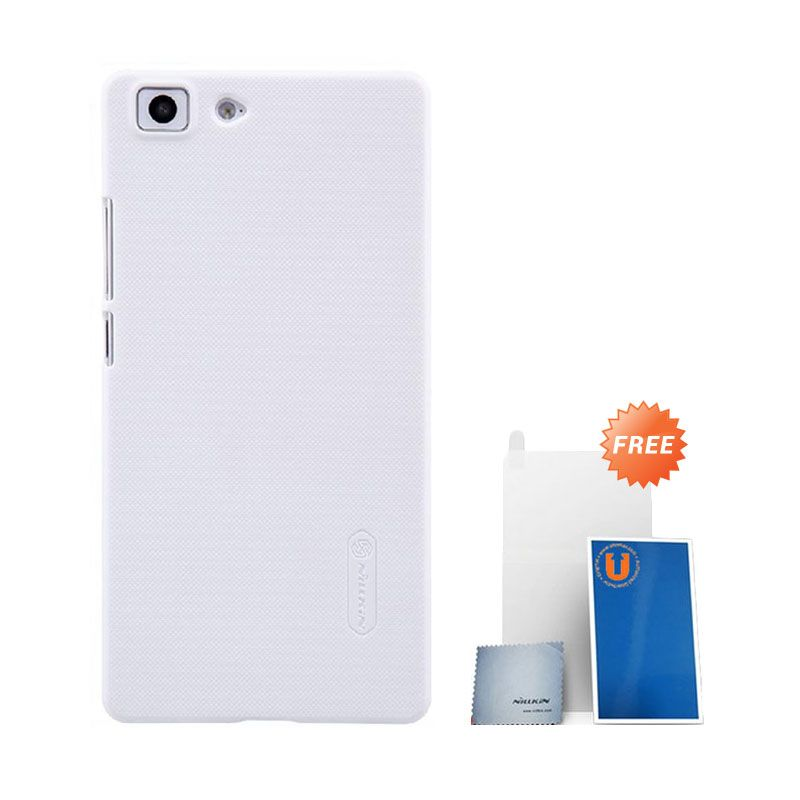 Nillkin Super Frosted Shield White Casing for Oppo R5 + Screen Protector