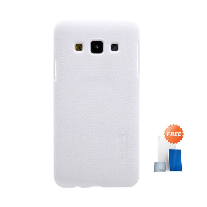 Nillkin Super Frosted Shield White Casing for Samsung Galaxy A3 + Screen Protector