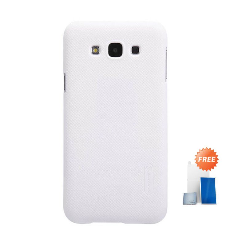 Nillkin Super Frosted Shield White Casing for Samsung Galaxy A7 + Screen Protector