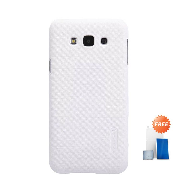 Nillkin Super Frosted Shield White Casing for Samsung Galaxy E7 + Screen Protector