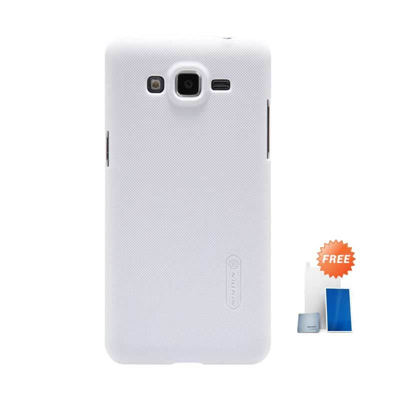 Nillkin Super Frosted Shield White Casing for Samsung Galaxy Grand Prime + Screen Protector