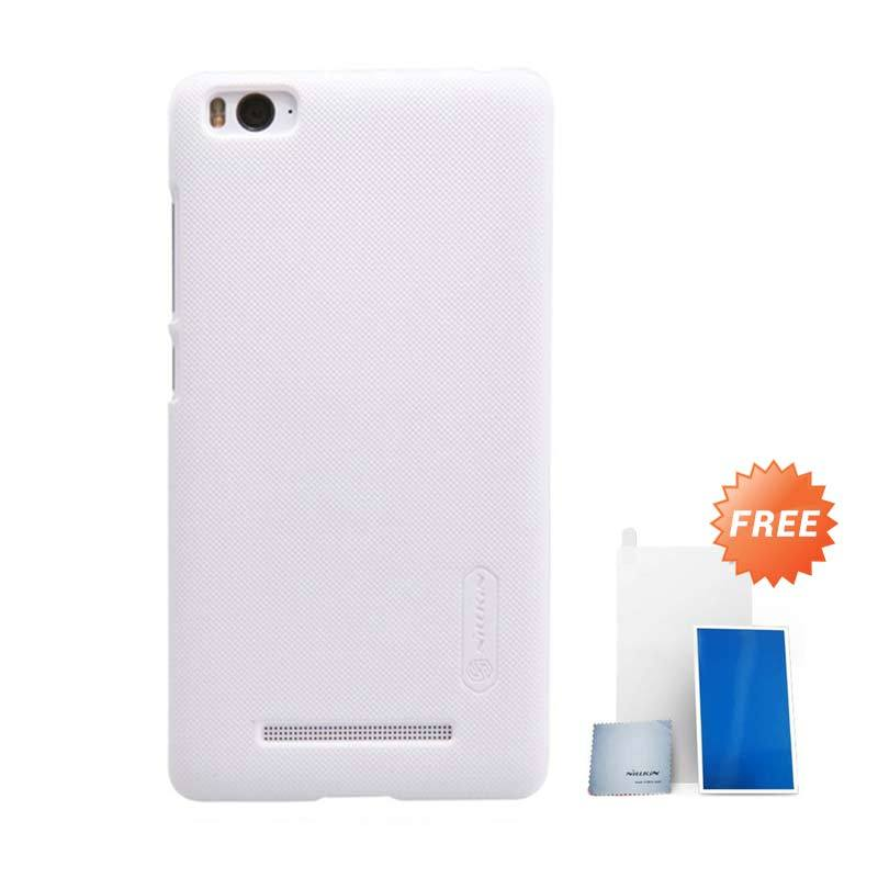 Nillkin Super Frosted Shield White Casing for Xiaomi Mi4i + Screen Protector