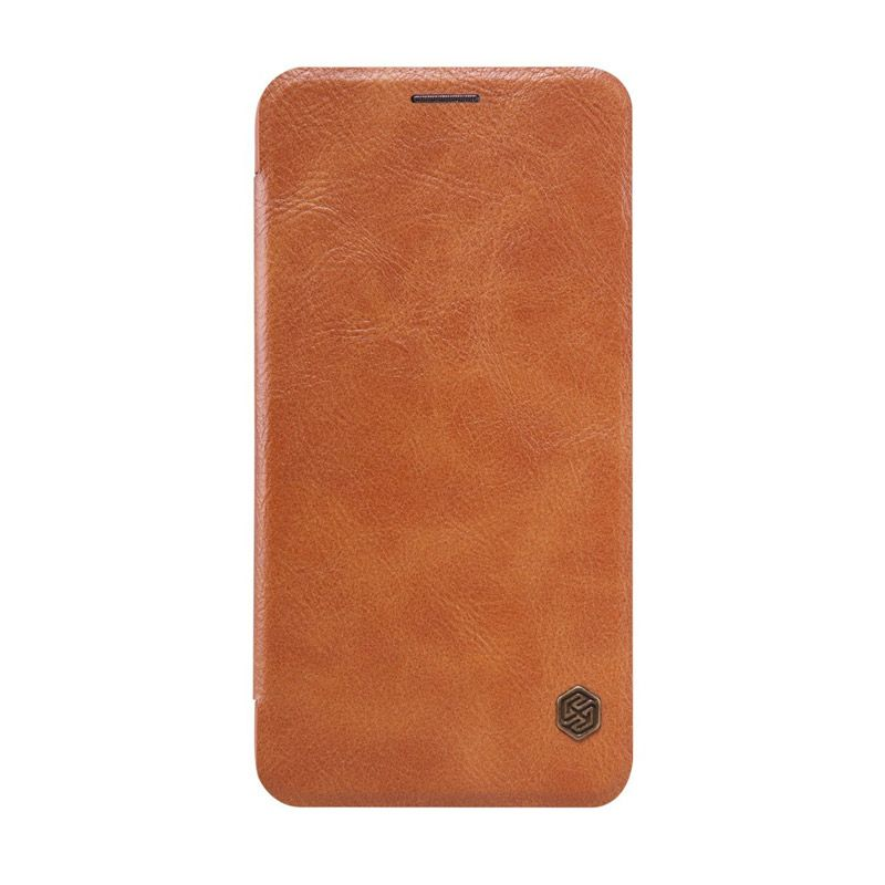Nillkin Qin Leather Brown Casing for Asus Zenfone 2 ZE551ML [5.5 Inch]